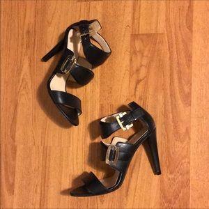 Authentic Balenciaga Silver & Gold Strap Heels